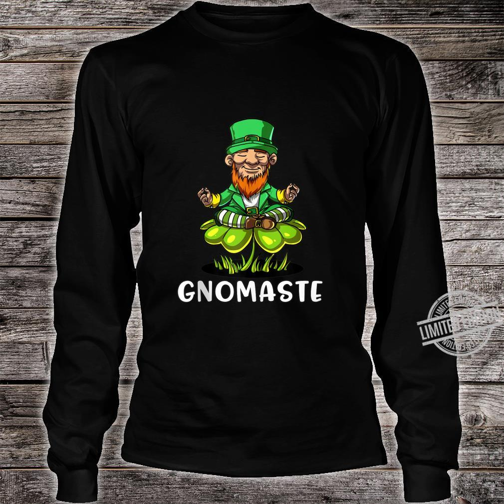 Leprechaun Zen Yoga St Patricks Day Gnomaste Irish Namaste Shirt long sleeved