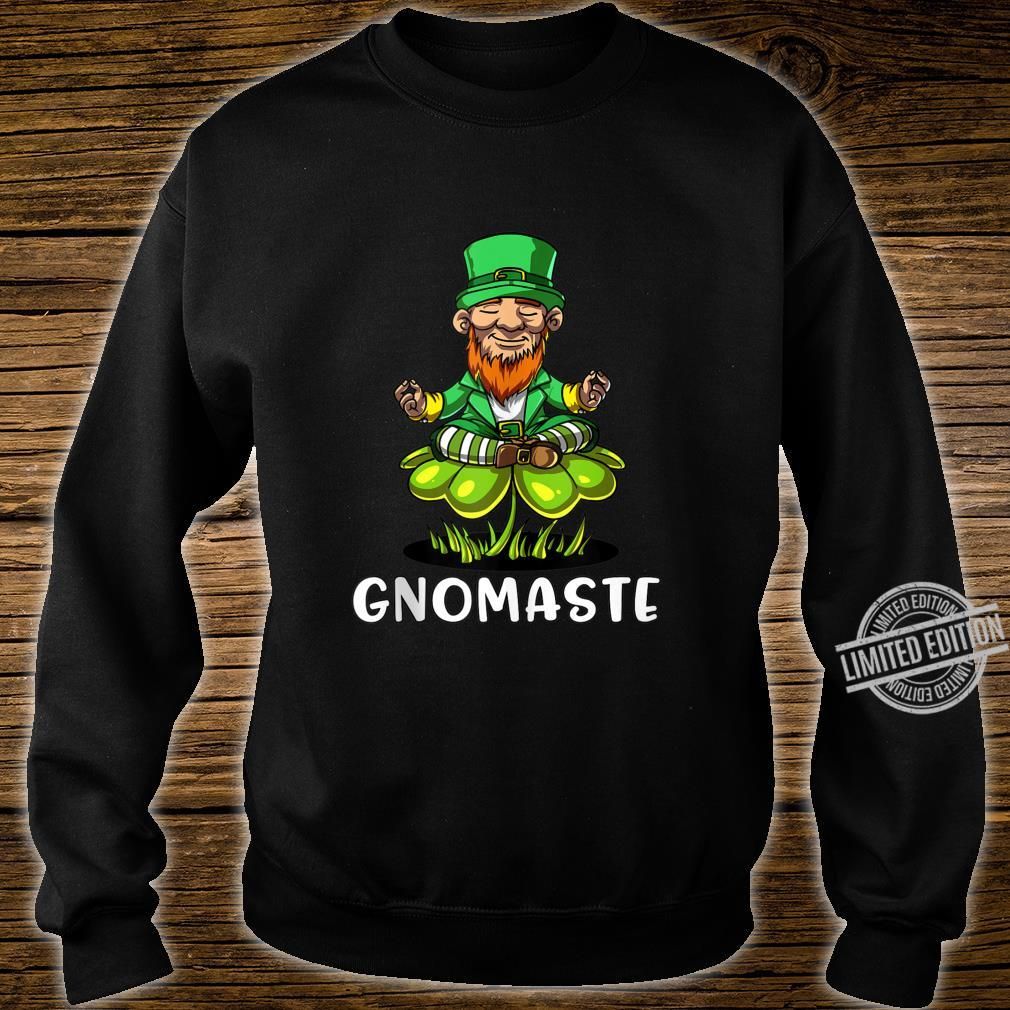 Leprechaun Zen Yoga St Patricks Day Gnomaste Irish Namaste Shirt sweater