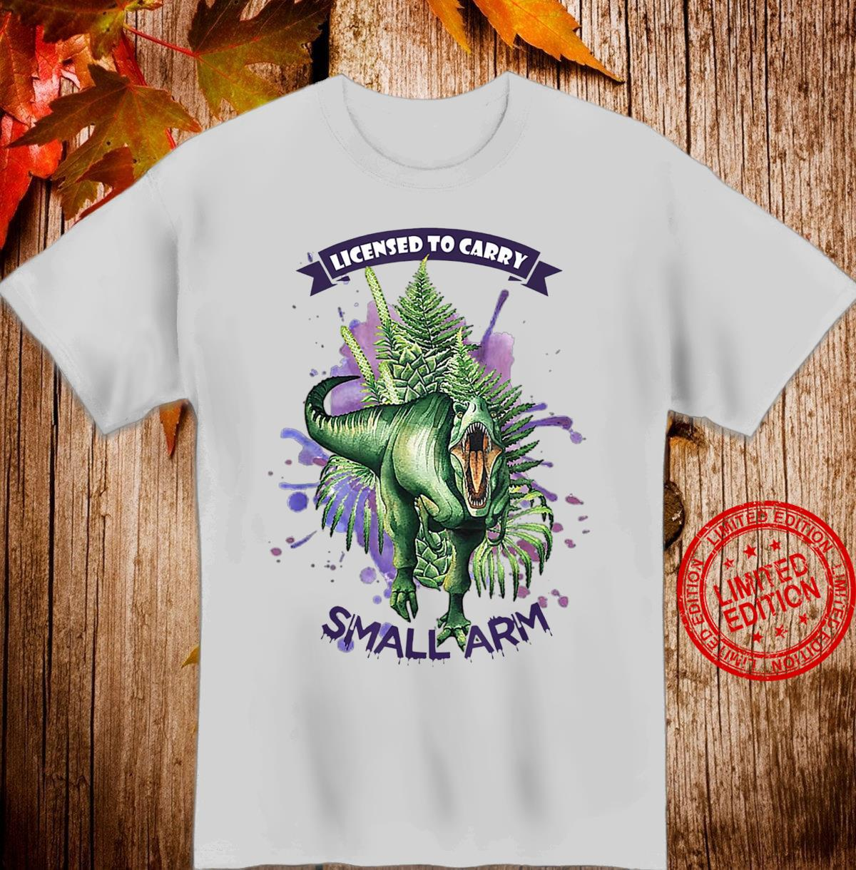 License to Carry Small Arms Dinosaurs Watercolor Tree Floral Shirt