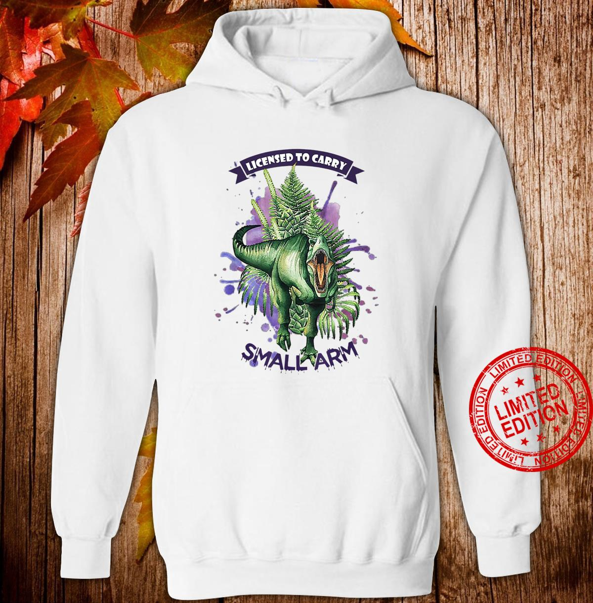 License to Carry Small Arms Dinosaurs Watercolor Tree Floral Shirt hoodie
