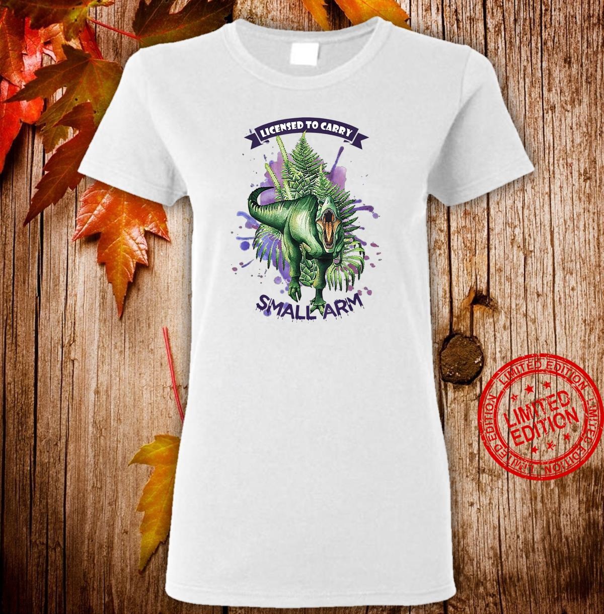 License to Carry Small Arms Dinosaurs Watercolor Tree Floral Shirt ladies tee