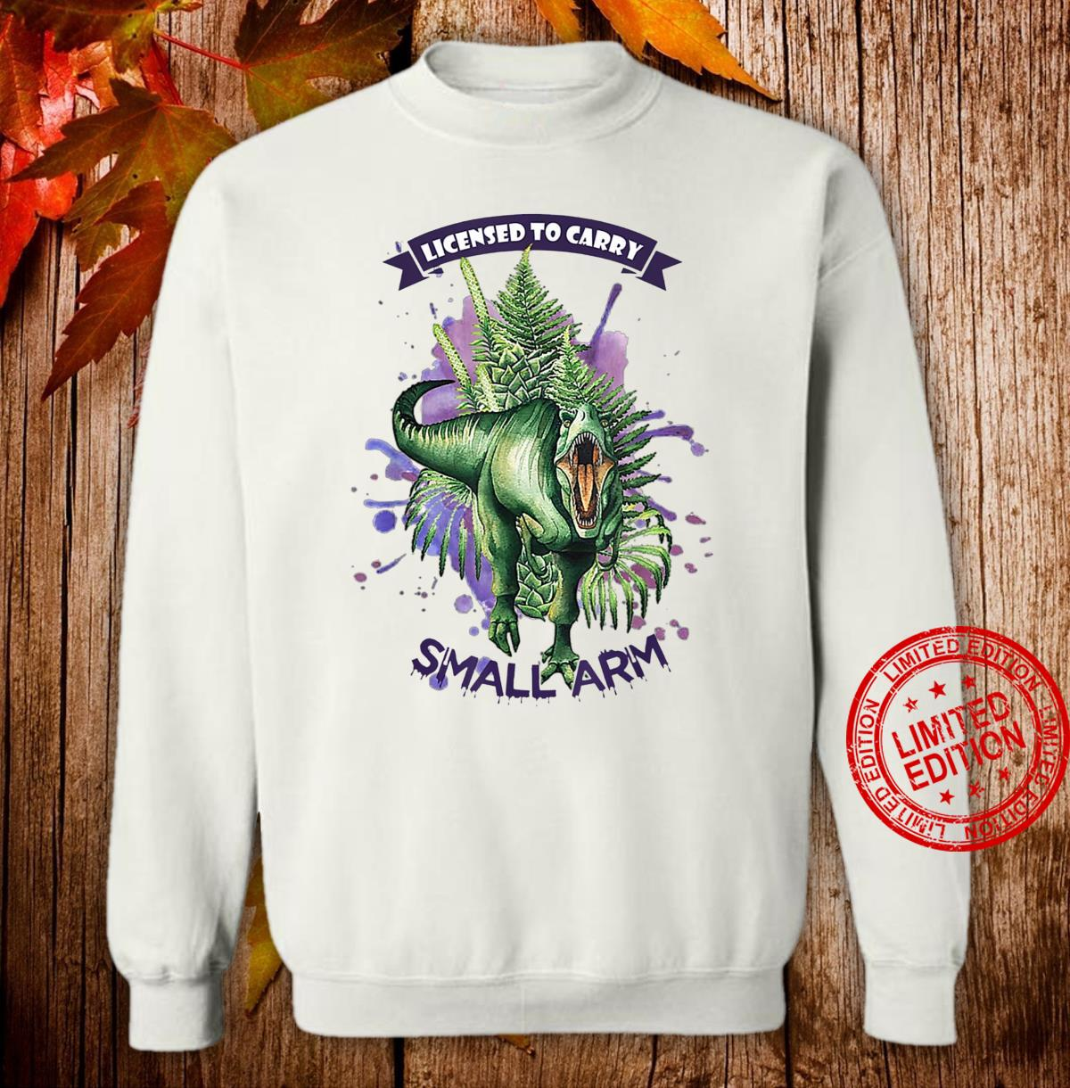 License to Carry Small Arms Dinosaurs Watercolor Tree Floral Shirt sweater