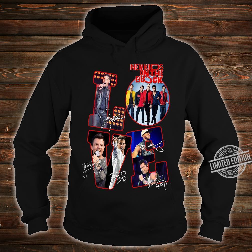Love NKOTB New Kids On The Block shirt hoodie
