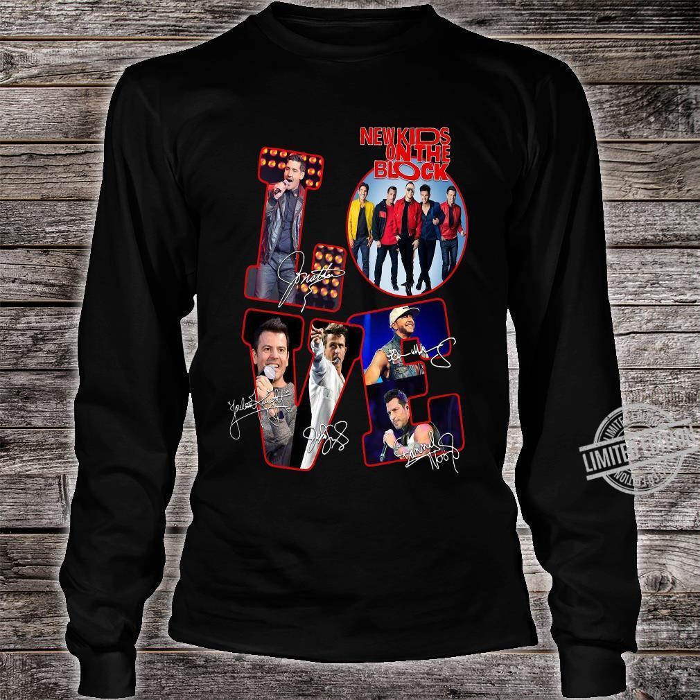 Love NKOTB New Kids On The Block shirt long sleeved