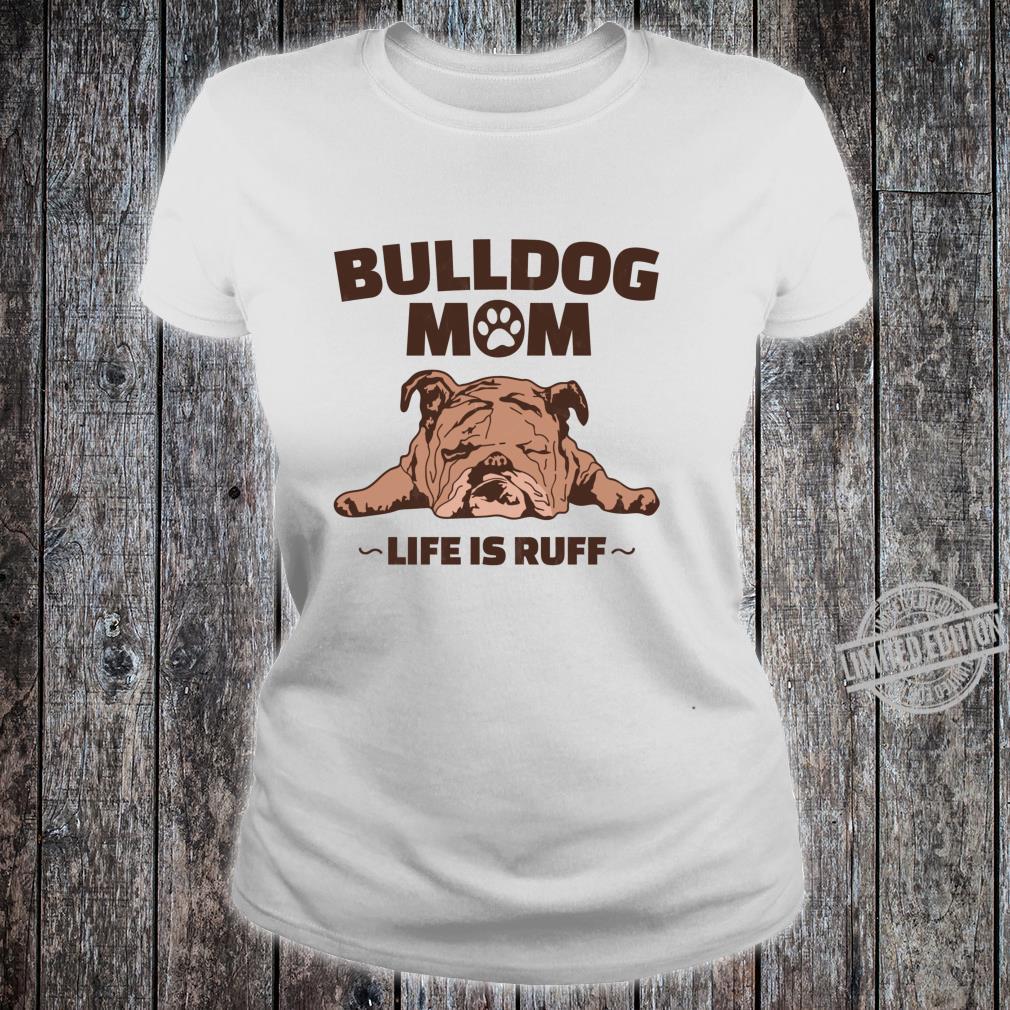 Bulldoggen Papa Geschenk Englische Bulldogge Langarmshirt