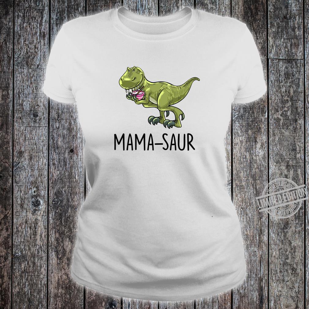 Mamasaur Baking Dinosaur Dino Animal Mother Mom Shirt ladies tee
