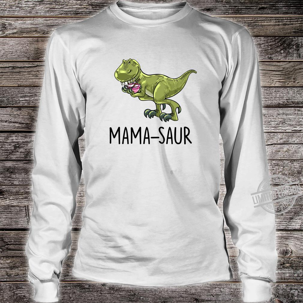 Mamasaur Baking Dinosaur Dino Animal Mother Mom Shirt long sleeved