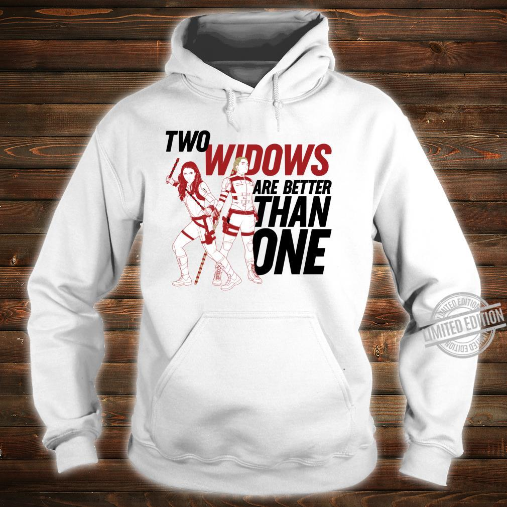 Marvel Black Widow Yelena Two Widows Are Better Than One Shirt hoodie