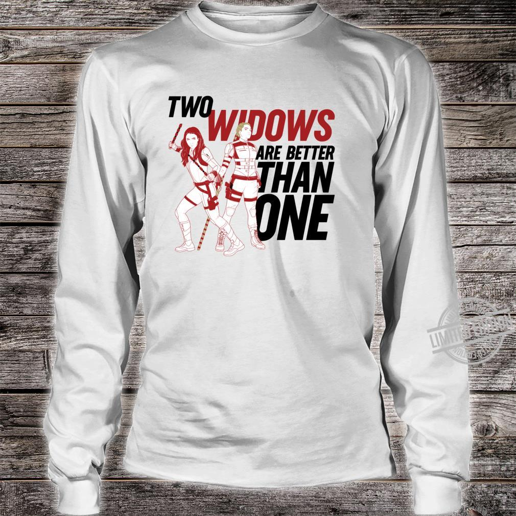 Marvel Black Widow Yelena Two Widows Are Better Than One Shirt long sleeved