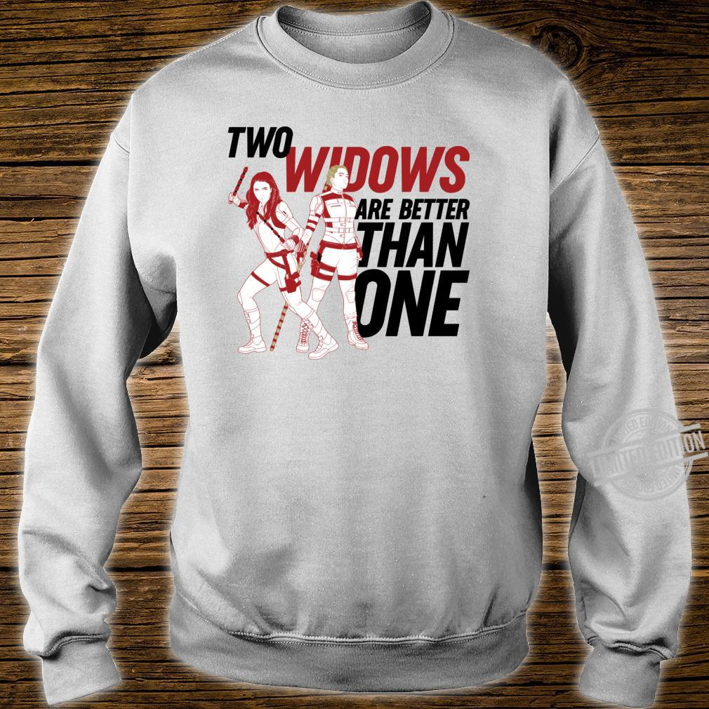 Marvel Black Widow Yelena Two Widows Are Better Than One Shirt sweater