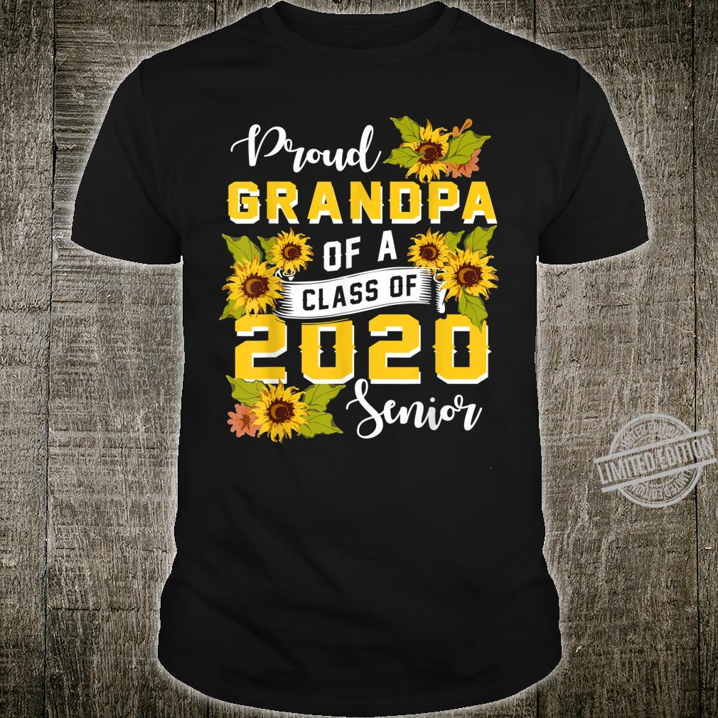 Mens Proud Grandpa Of A Class Of 2020 Senior Graduation Shirt