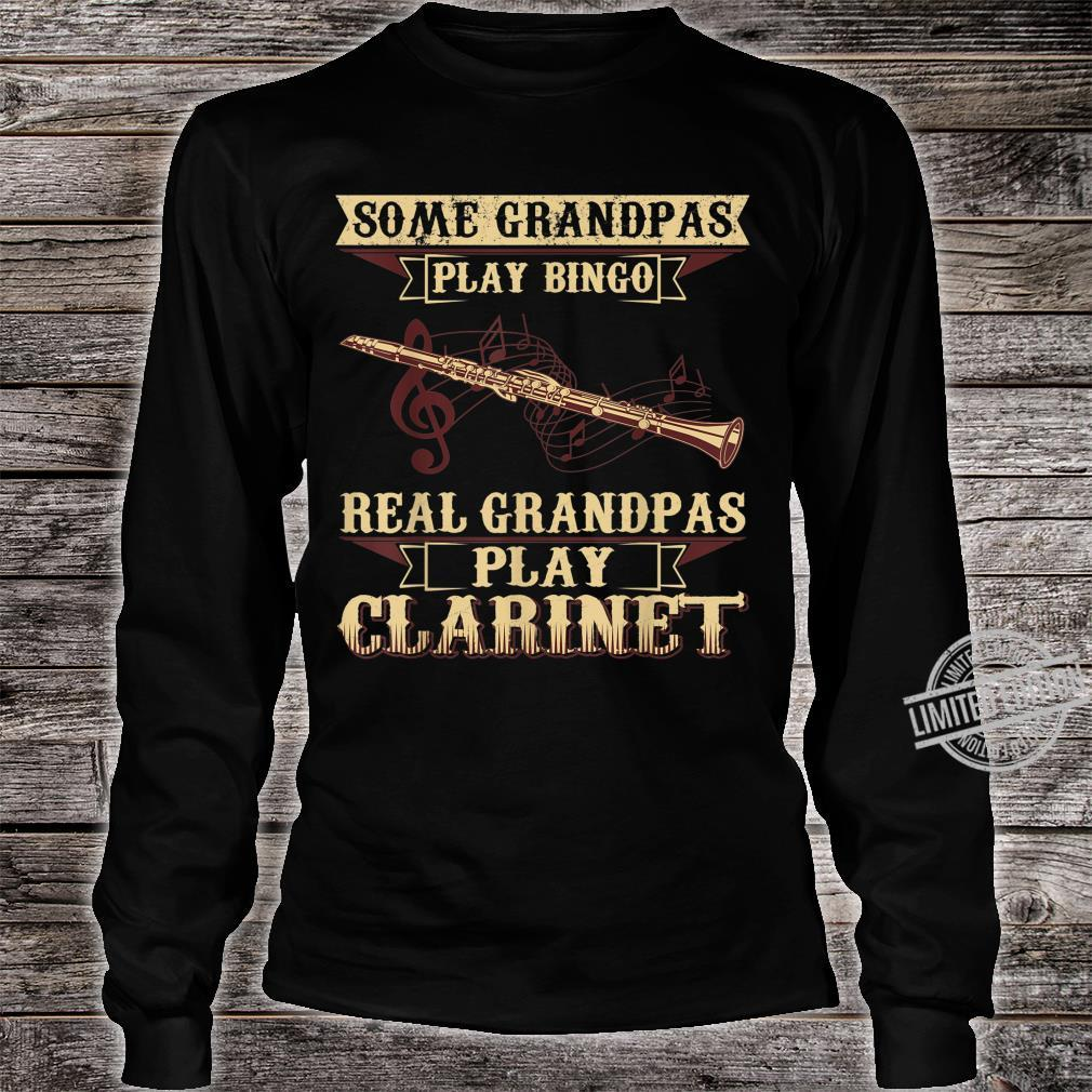 Men's Some Play Bingo Real Grandpa Play Clarinet Shirt long sleeved
