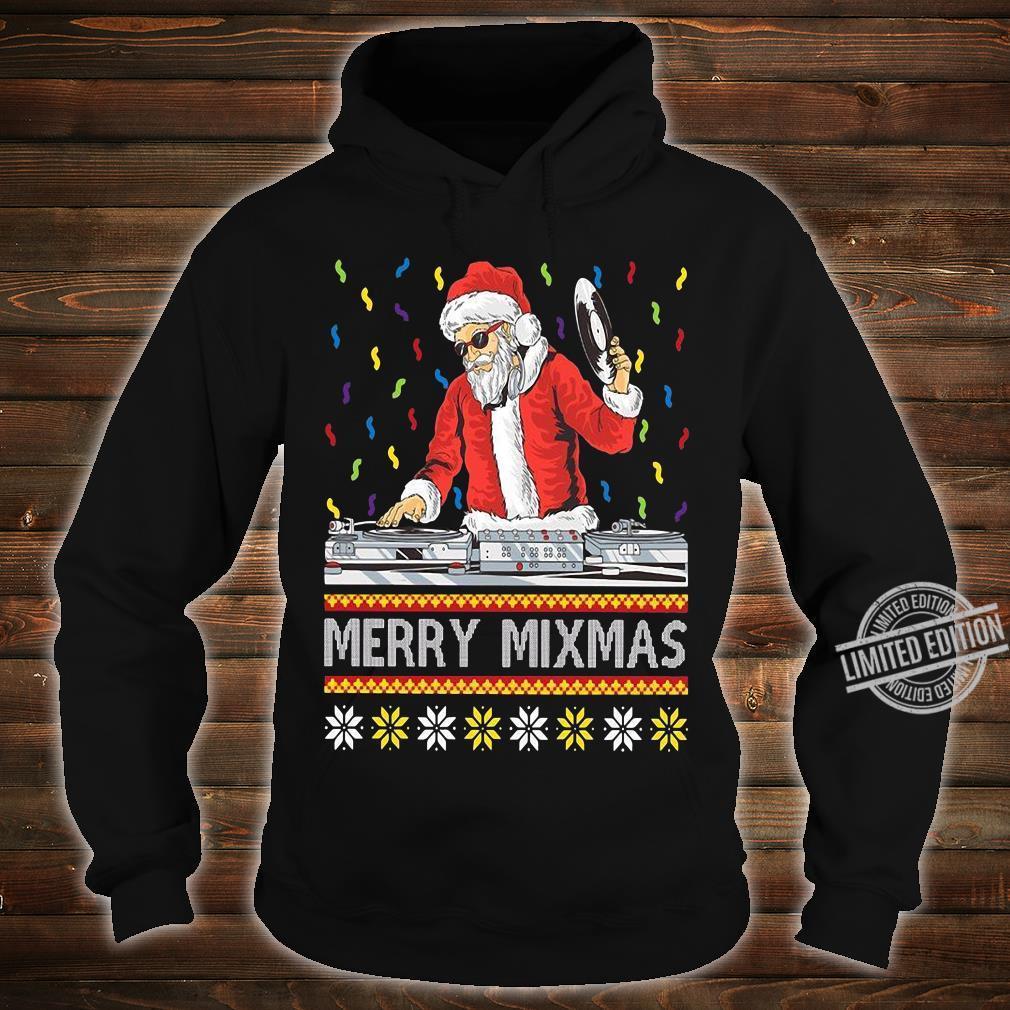 Merry Mixmas Santa DJ Christmas Long Sleeve T-Shirt hoodie