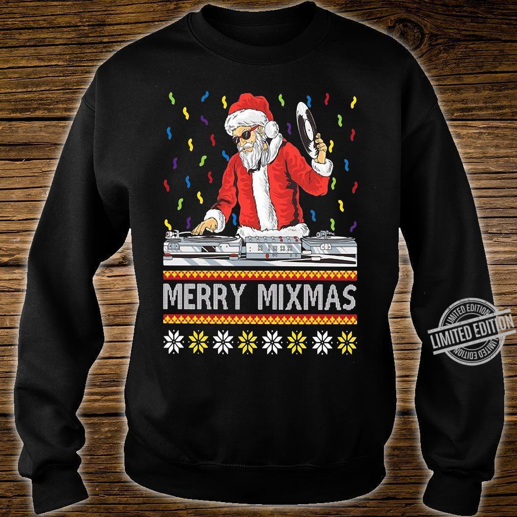 Merry Mixmas Santa DJ Christmas Long Sleeve T-Shirt sweater