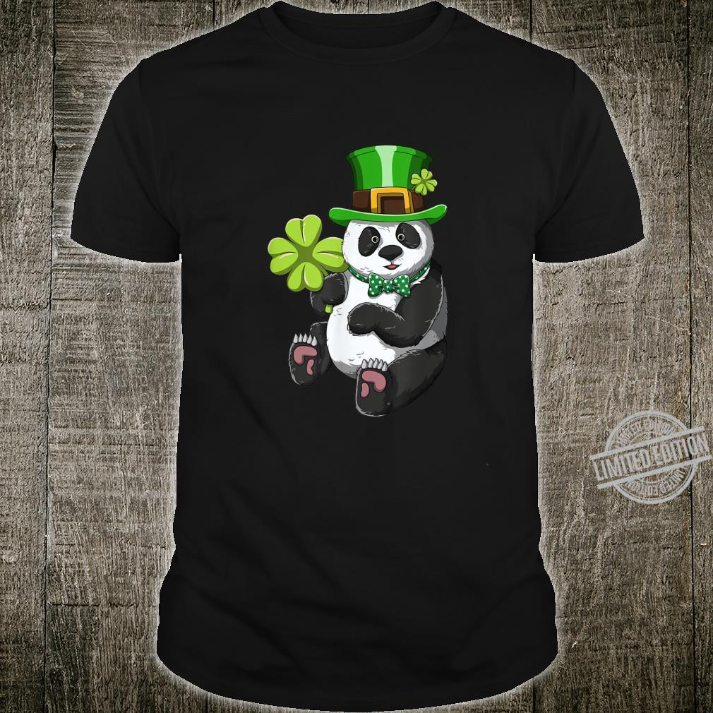 Panda St Patricks Day Shirt Leprechaun Panda Shirt