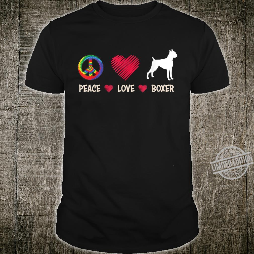 Peace Love Boxer Dog For Boxers Shirt
