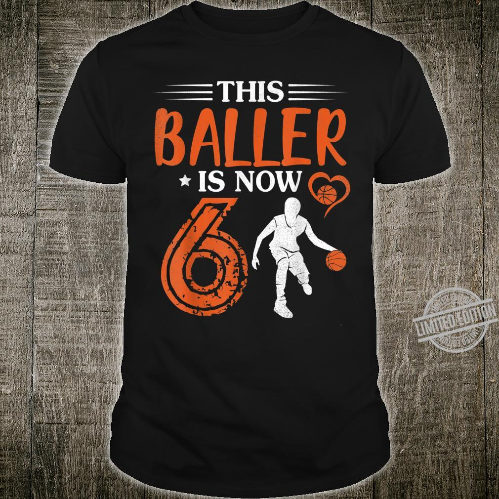 Playing Basketball This Baller Is Now 6 Years Born In 2014 Shirt