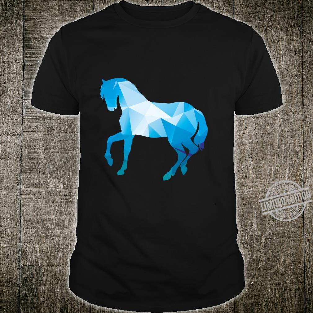 Polygonal Blue Horse Cool Shirt