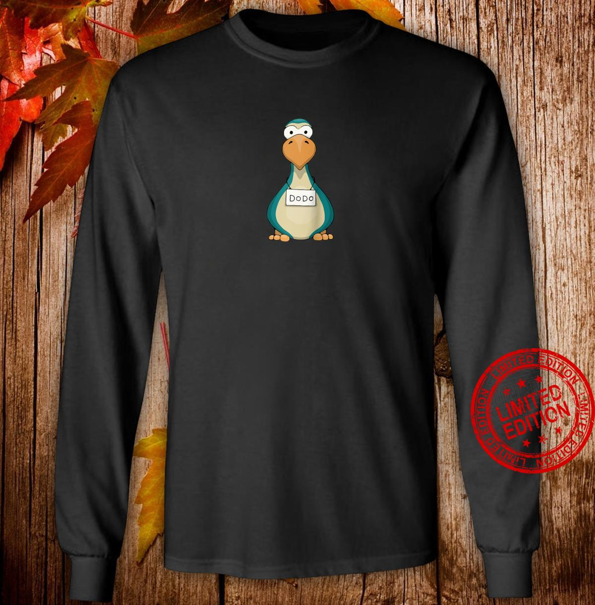 Remember This Bird Funky Cute Dodo Mug Shot Shirt long sleeved