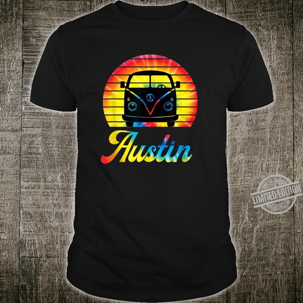 Retro Austin Texas Vintage Hippie Van Road Trip Shirt