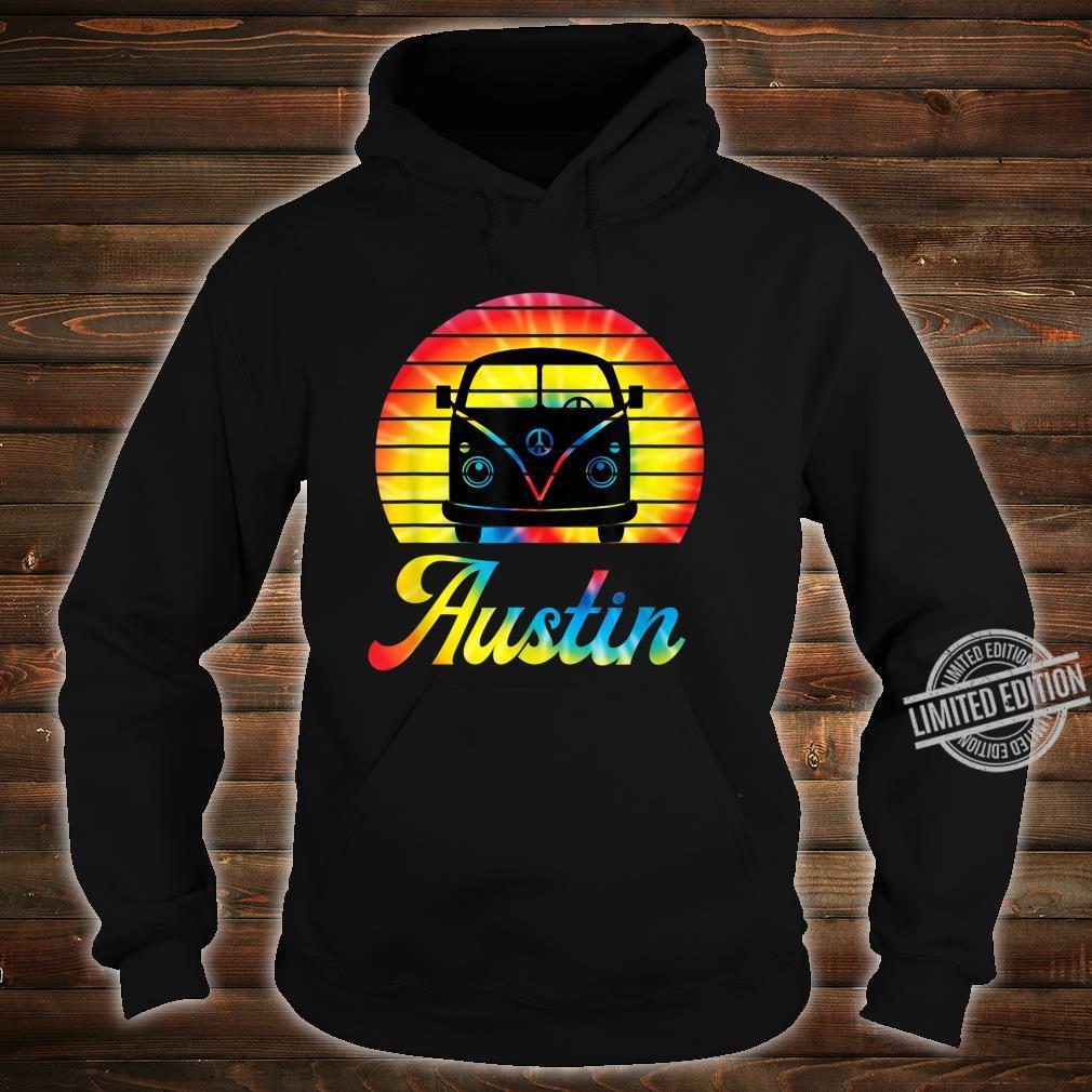 Retro Austin Texas Vintage Hippie Van Road Trip Shirt hoodie