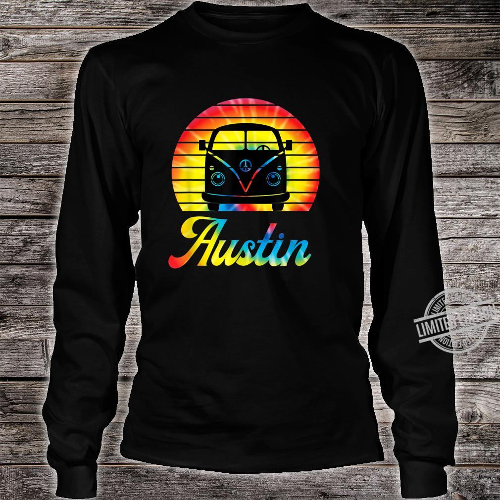 Retro Austin Texas Vintage Hippie Van Road Trip Shirt long sleeved