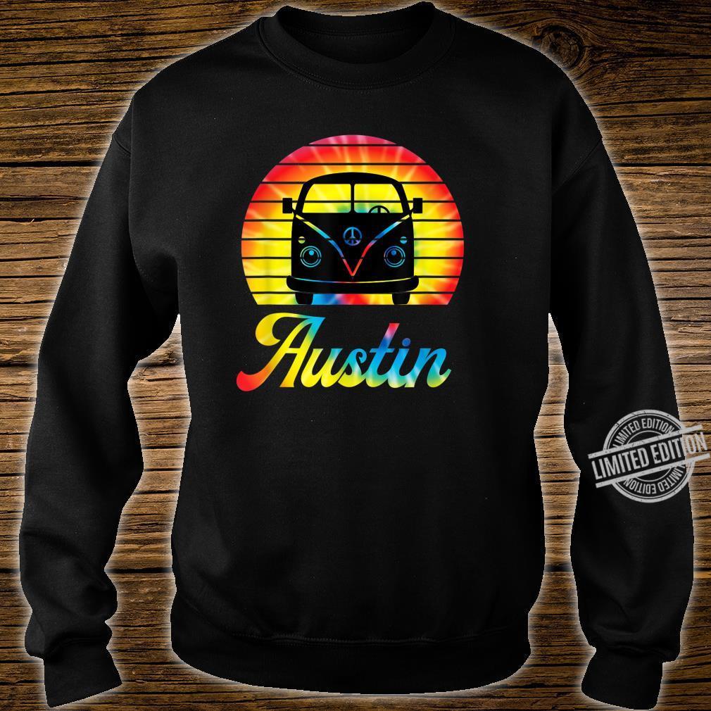 Retro Austin Texas Vintage Hippie Van Road Trip Shirt sweater