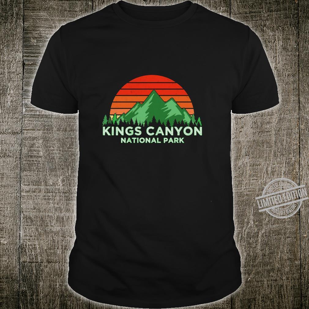 Retro Vintage Kings Canyon National Park Souvenir Shirt