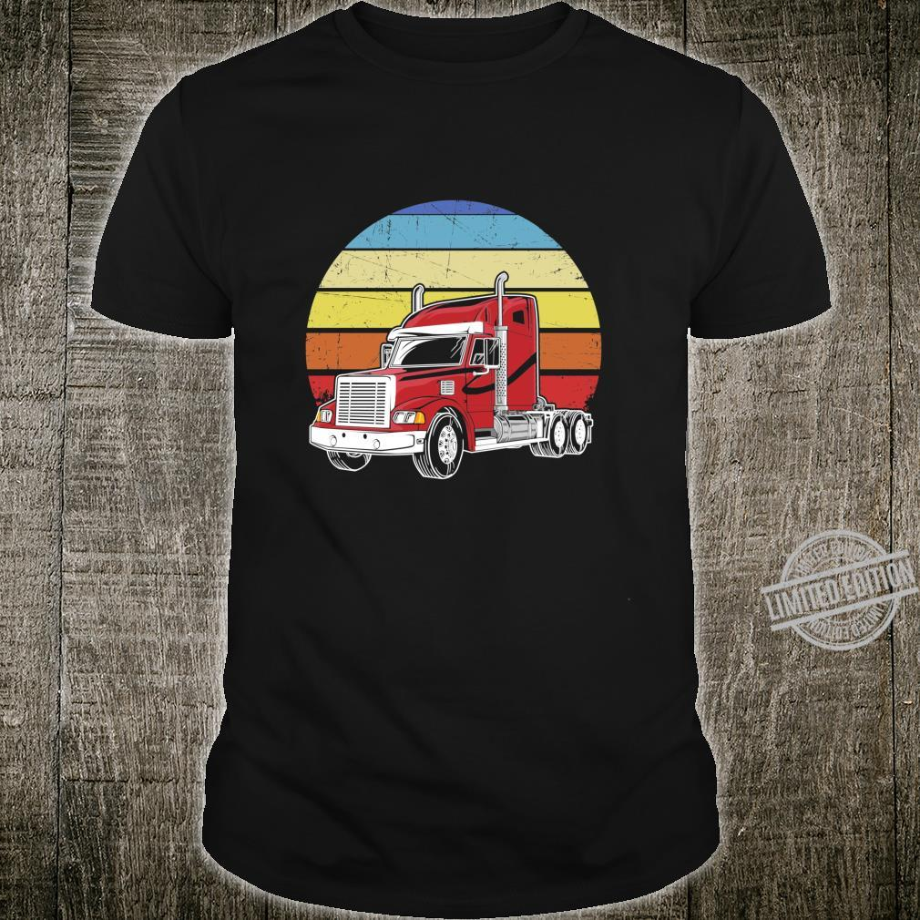 Retro Vintage Trucker Big Rig SemiTrailer Truck Driver Langarmshirt Shirt