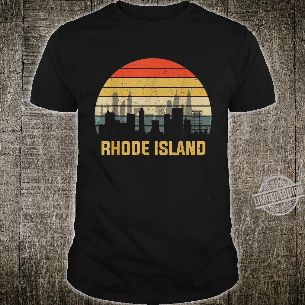 Rhode Island Retro Vintage Skyline Shirt