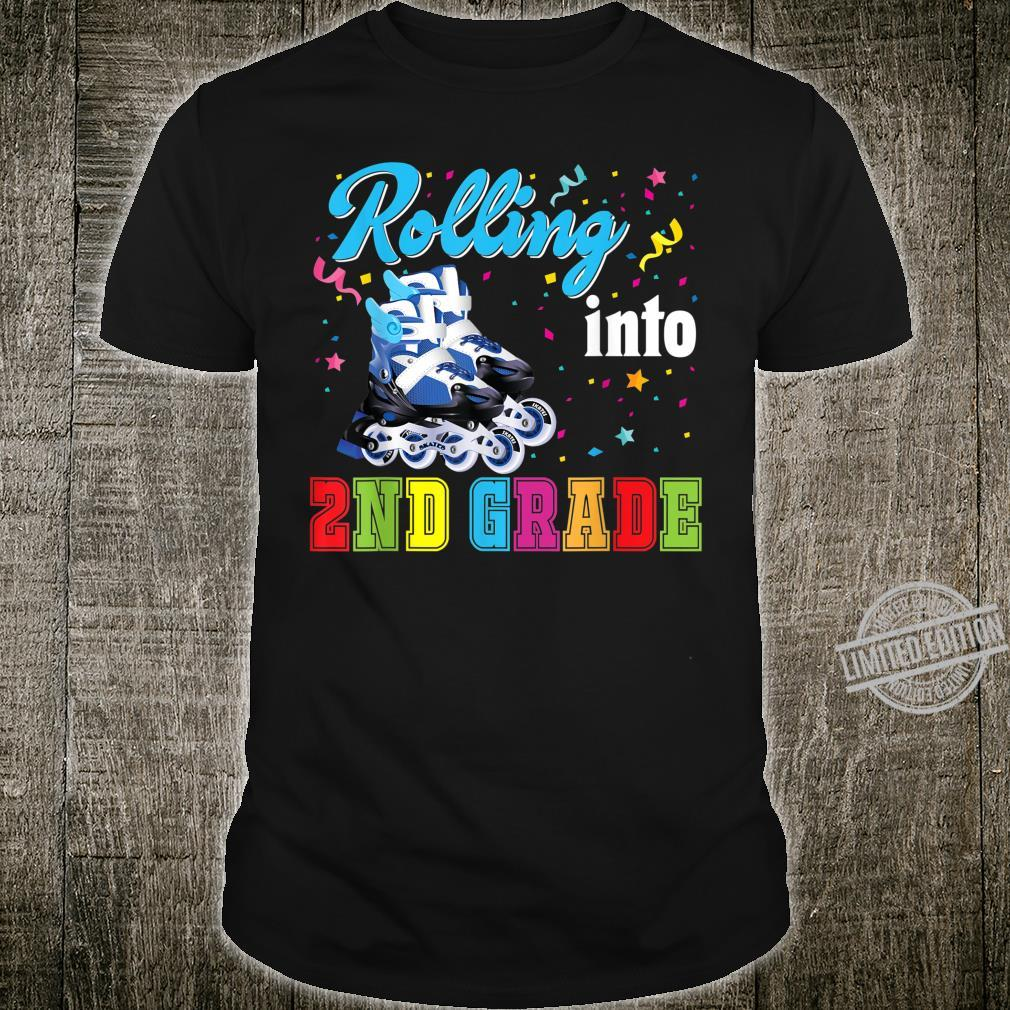 Rolling Into 2nd Grade Second Back To School Roller Skate Shirt