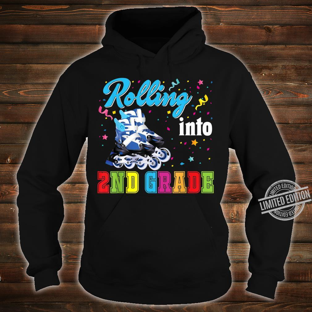 Rolling Into 2nd Grade Second Back To School Roller Skate Shirt hoodie