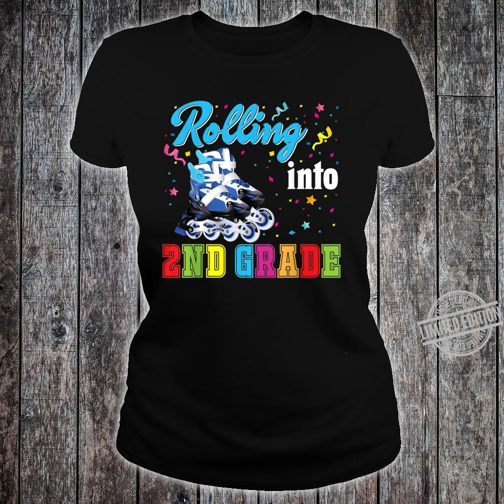 Rolling Into 2nd Grade Second Back To School Roller Skate Shirt ladies tee