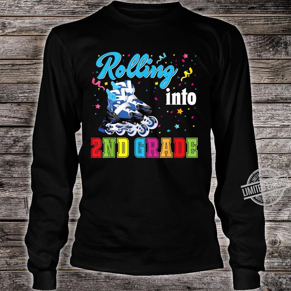 Rolling Into 2nd Grade Second Back To School Roller Skate Shirt long sleeved