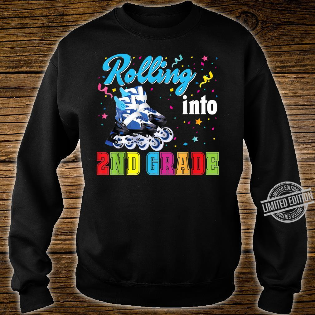 Rolling Into 2nd Grade Second Back To School Roller Skate Shirt sweater