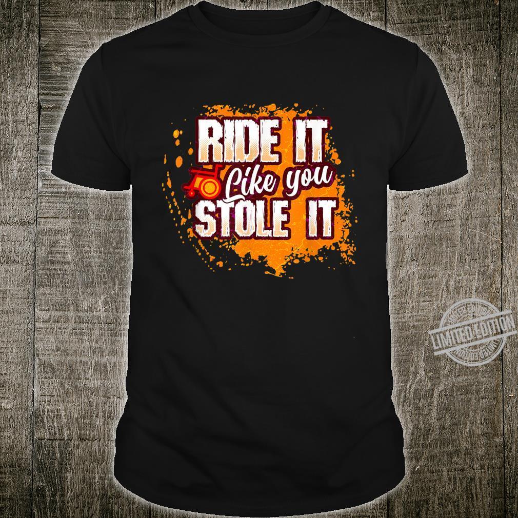 Rollstuhl Humor Behinderung Handicap Geschenk Shirt