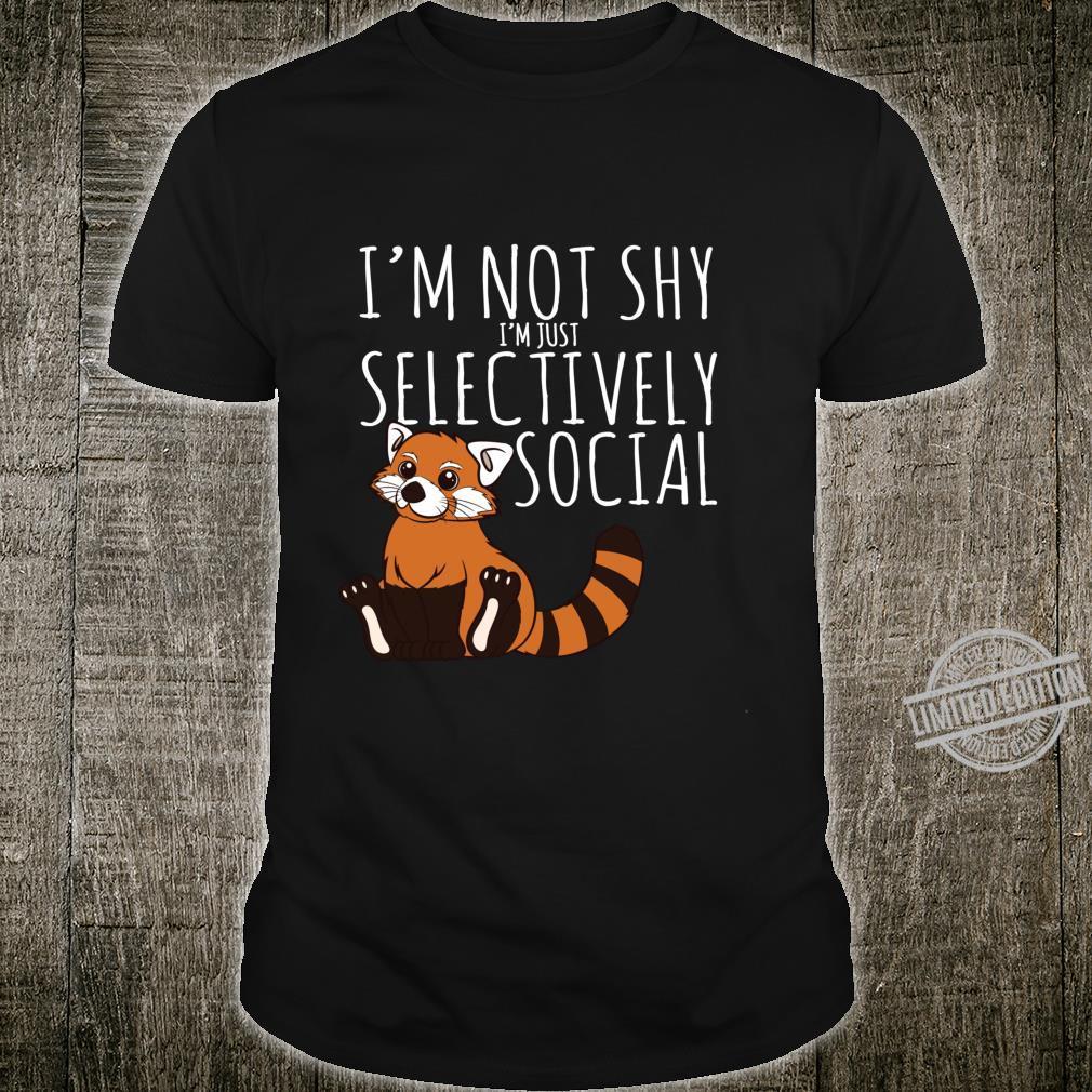 Roter PandaLiebhaber stellt Geschenk selektiv sozial ein Langarmshirt Shirt