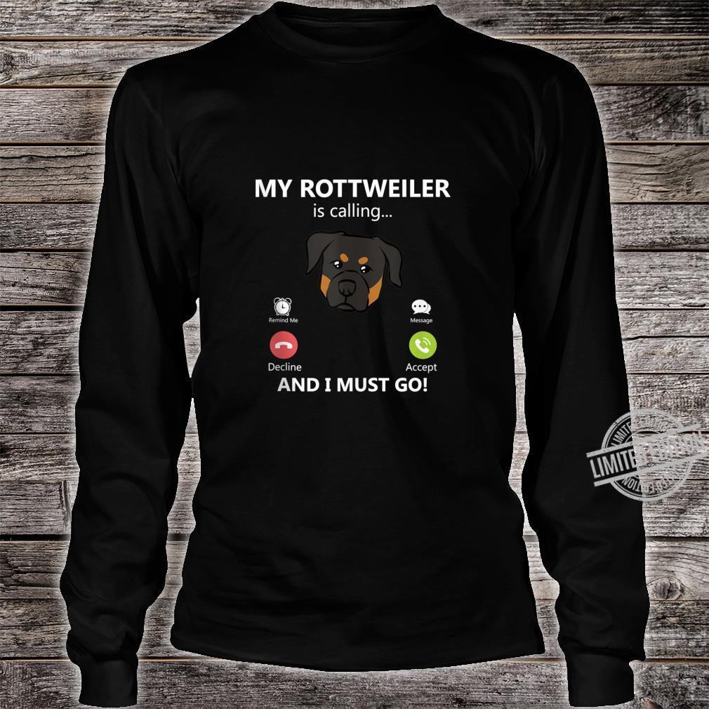 Rottweiler Dog Shirt long sleeved