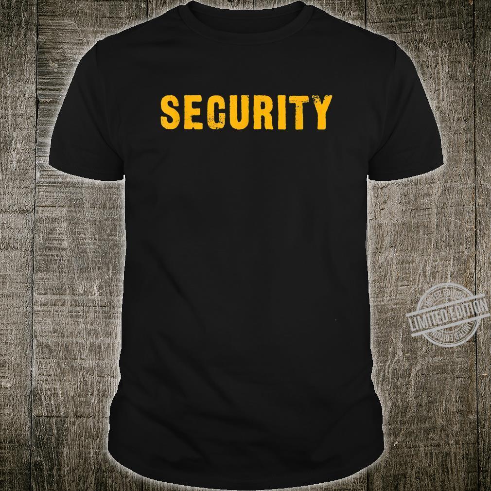 Security Sicherheitsdienst orange Shirt
