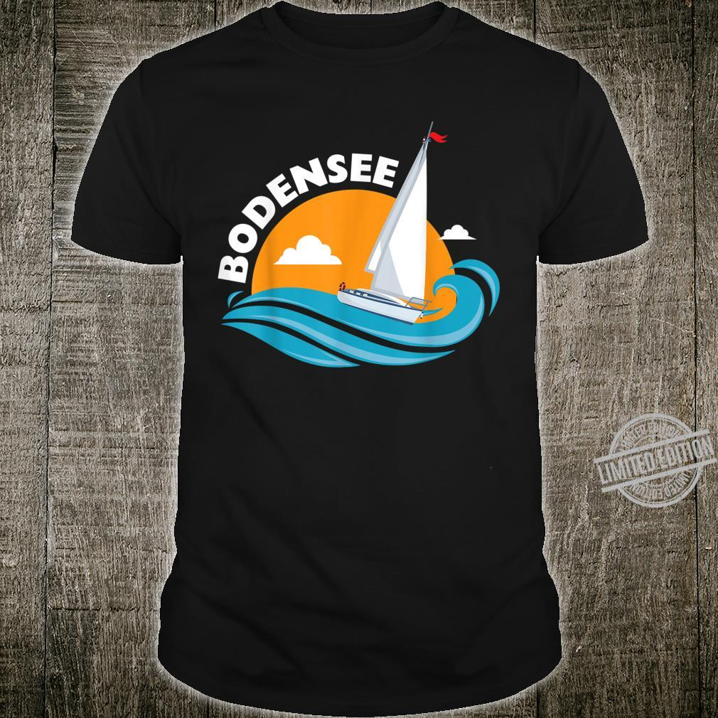 Segeln auf den Bodensee Wellen unter der Sommer Sonne Shirt