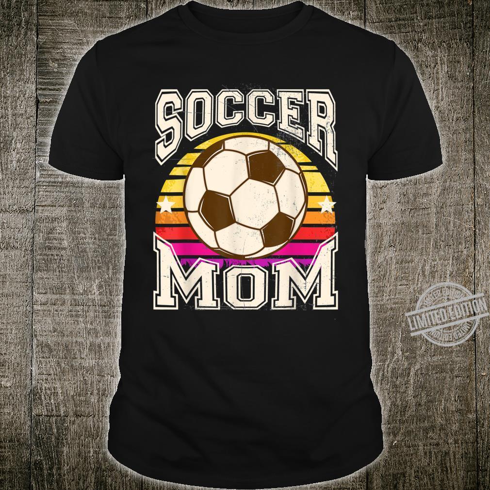 Soccer Mom Sports Distressed Retro Sun Shirt