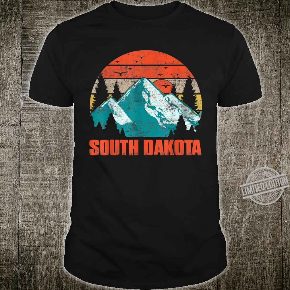 South Dakota Retro Vintage Skyline Shirt