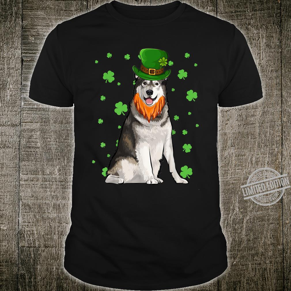 St Patricks Day Alaskan Malamute Dog Shamrock Shirt