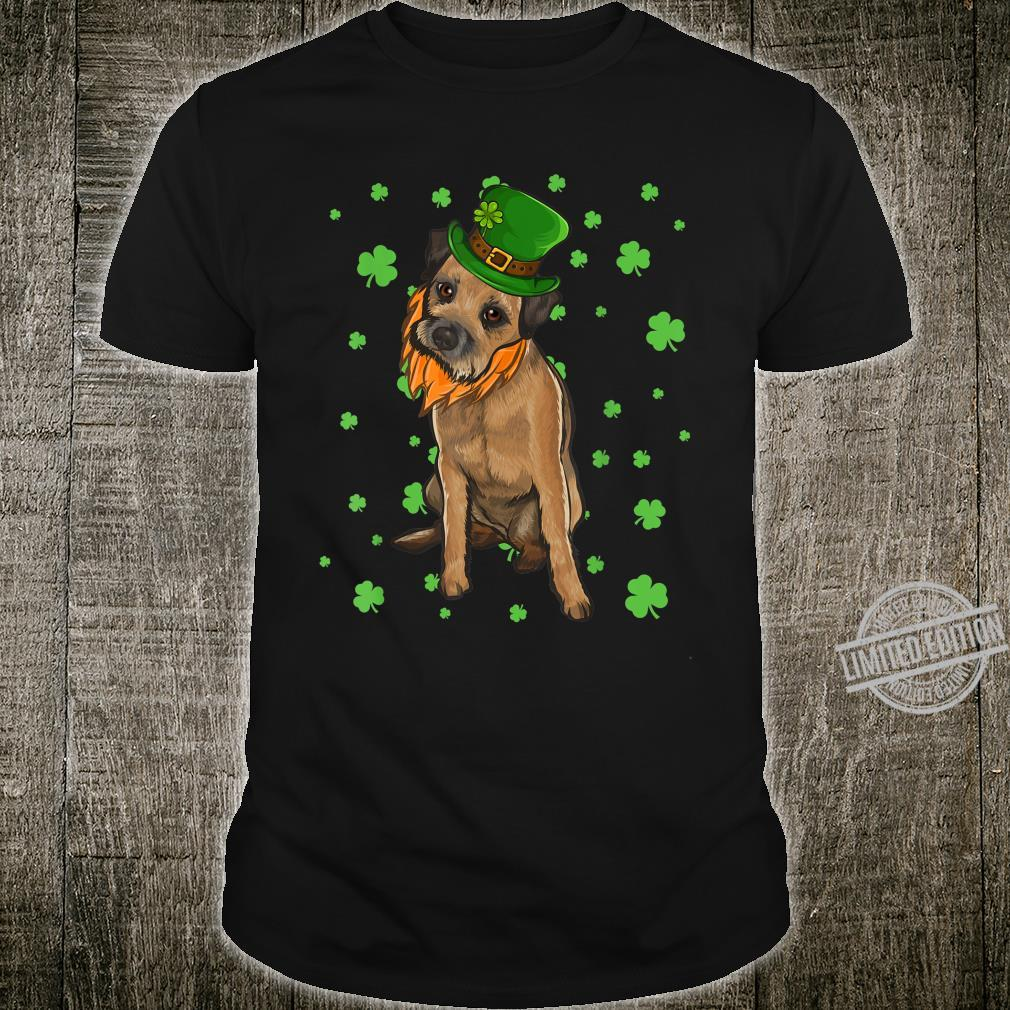 St Patricks Day Border Terrier Dog Shamrock Shirt