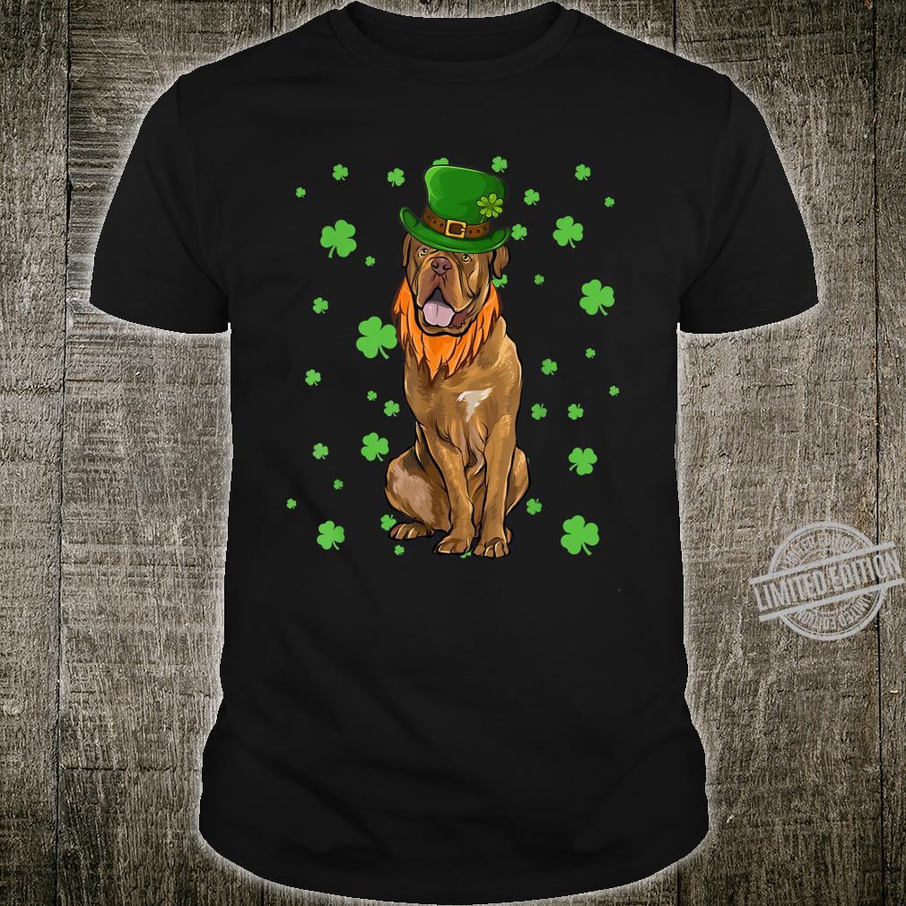 St Patricks Day Dogues de Bordeaux Dog Shamrock Shirt