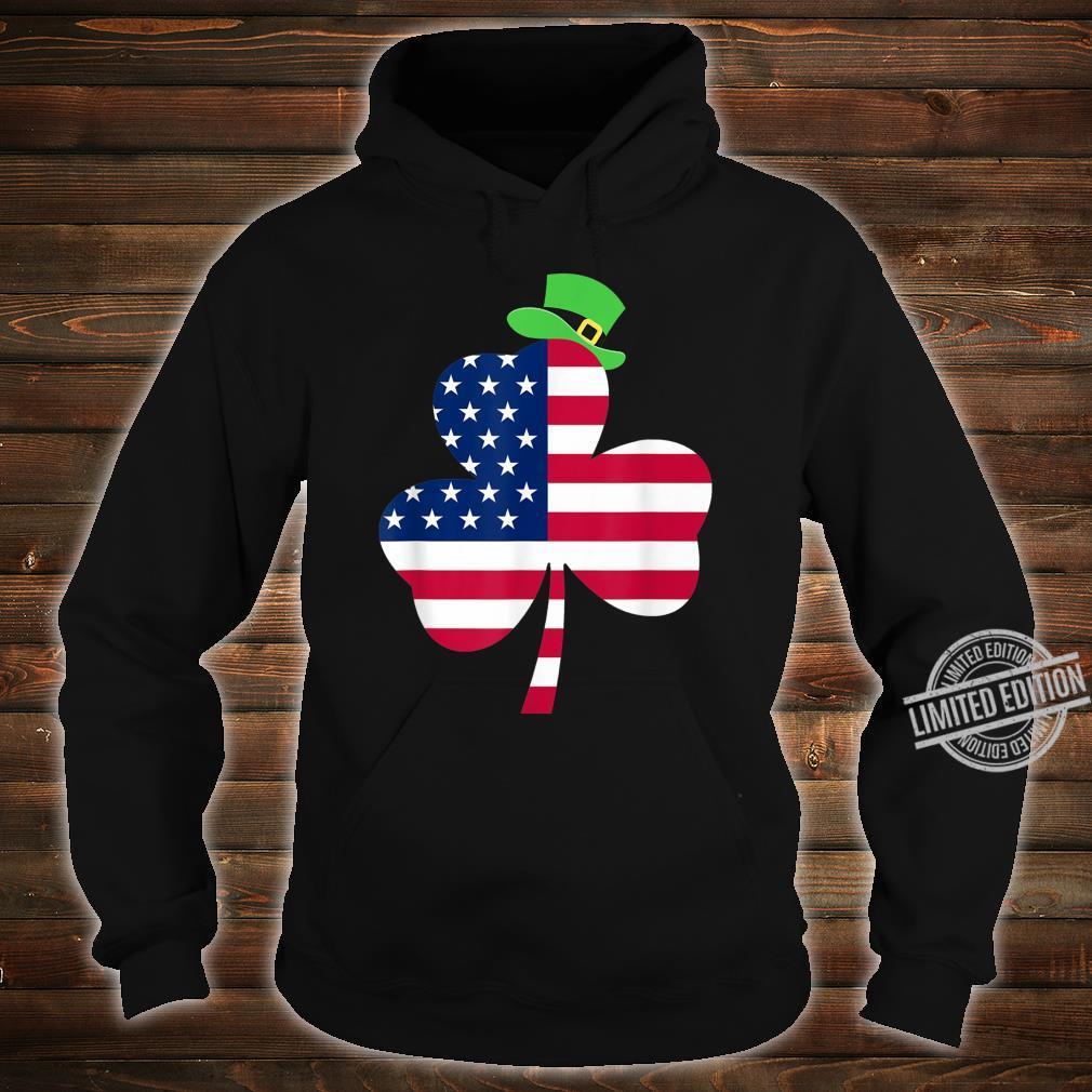 St. Patrick's Day Irish American Flag Ireland Shamrock Shirt hoodie