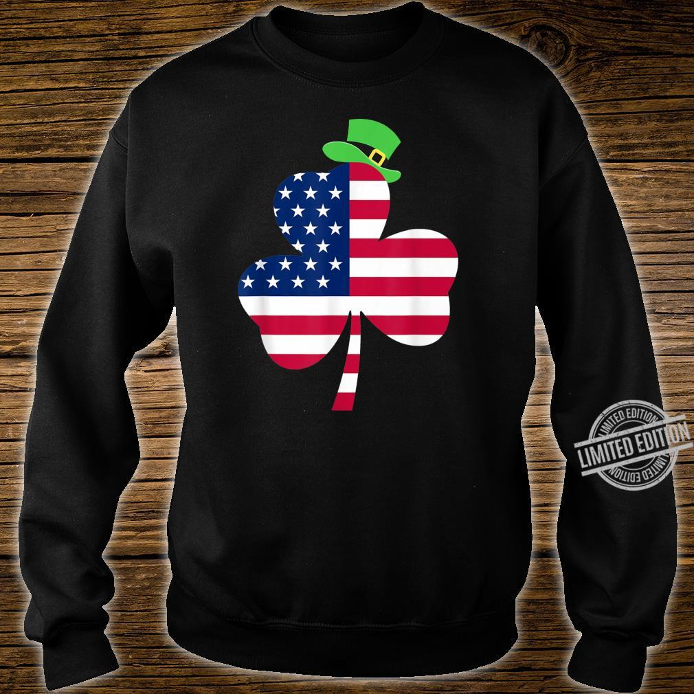 St. Patrick's Day Irish American Flag Ireland Shamrock Shirt sweater