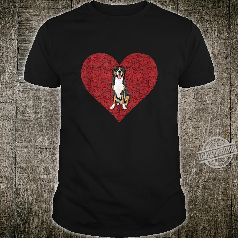Swiss Mountain Dog Valentines Day Dog Love Fingerprint Shirt