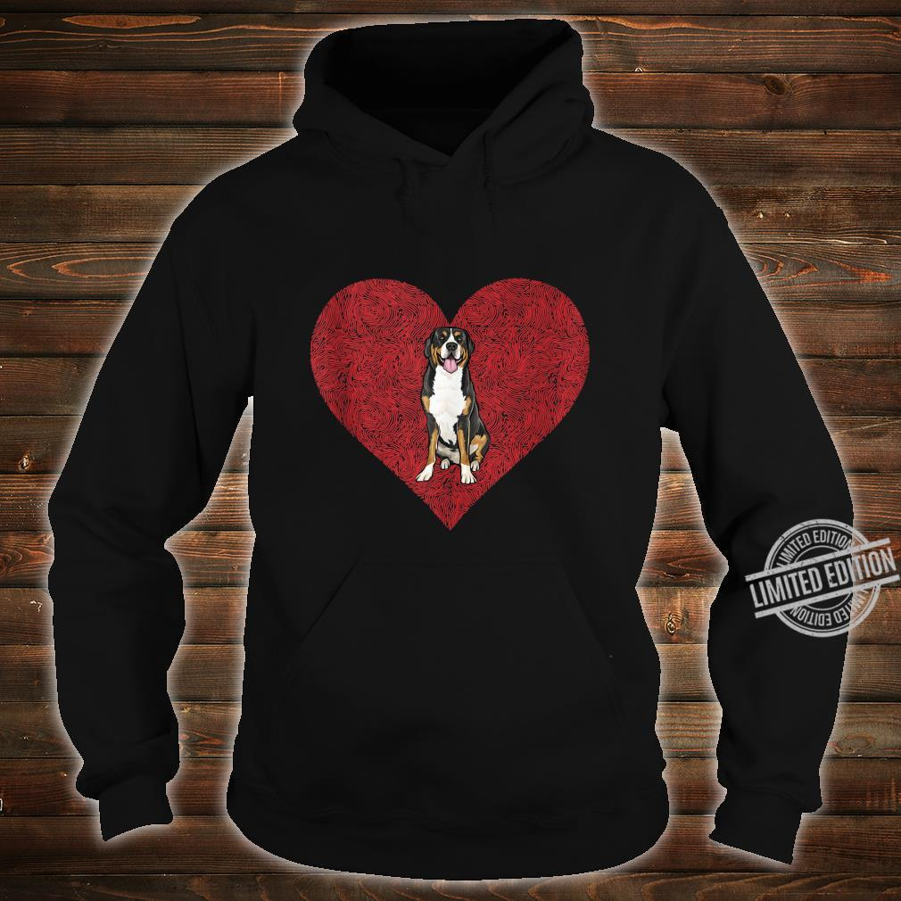Swiss Mountain Dog Valentines Day Dog Love Fingerprint Shirt hoodie