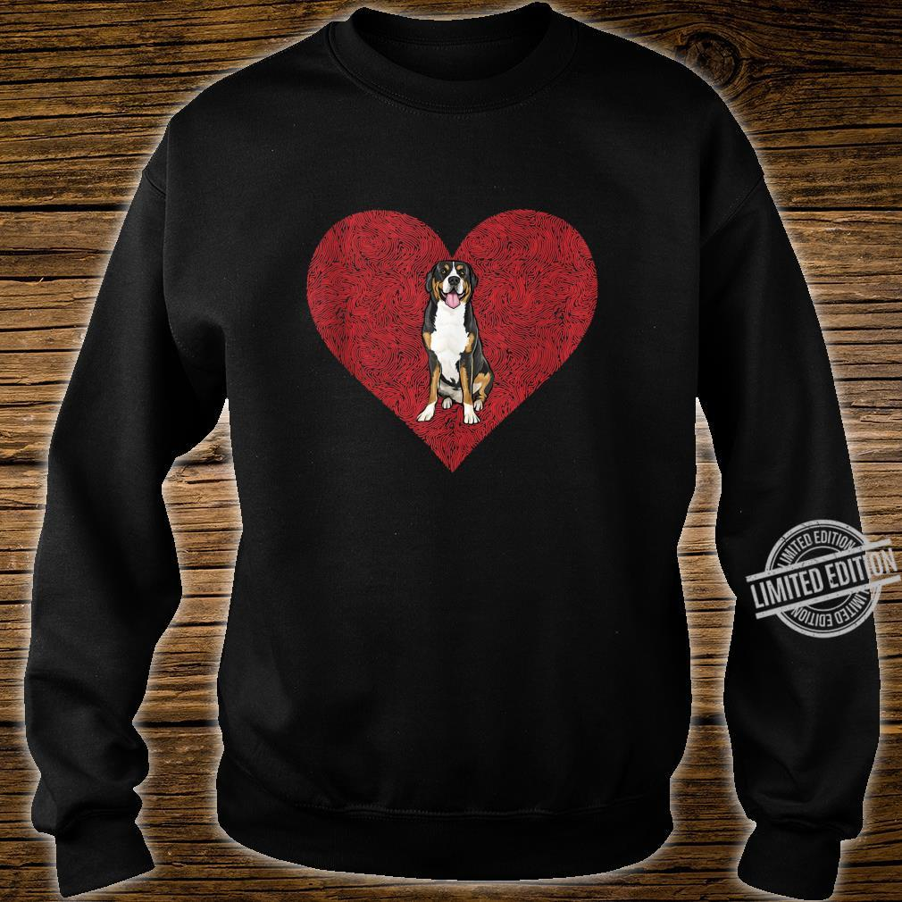 Swiss Mountain Dog Valentines Day Dog Love Fingerprint Shirt sweater